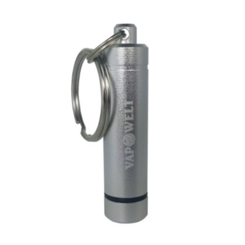 Focusvape Capsule Caddy/Steel Pod Container & Schlüsselanhänger *Silber*