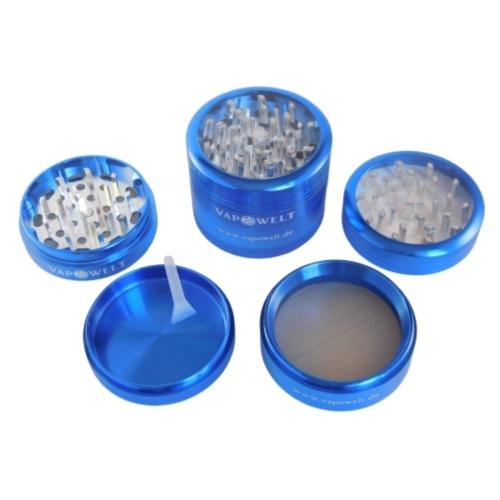 Alu-Grinder mit Sichtfenster (50 mm) *Blau*