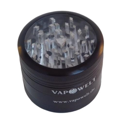 Alu-Grinder mit Sichtfenster (50 mm) *Schwarz*