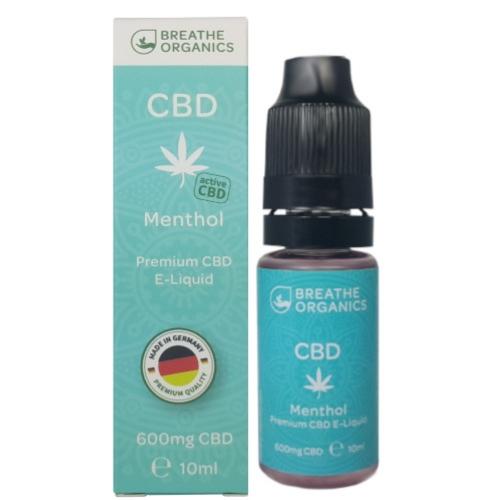 Breathe Organics 10ml Menthol (600mg)