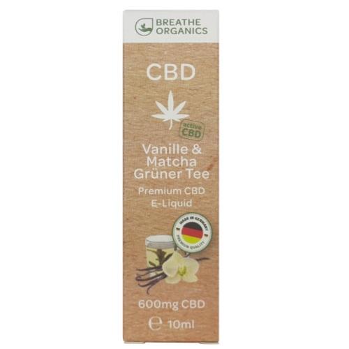 Breathe Organics 10ml Vanille & Matcha (600mg)