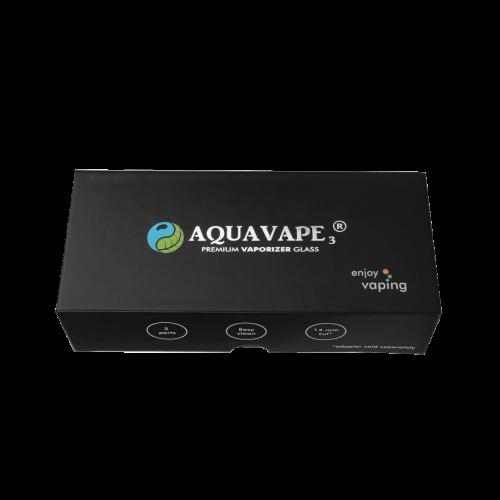 AquaVape³ Wasserfilter mit 10 mm auf 10,14,18 mm Adapter lang aus Glas für Davinci IQ / MIQRO