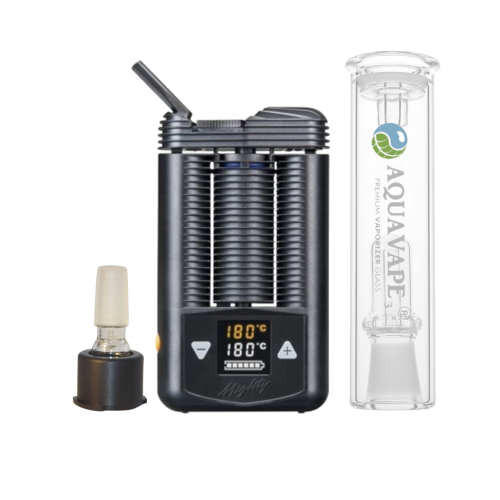Mighty Vaporizer Komplett Set + Aquavape³-Bubbler & 14mm-Adapter