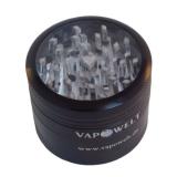 Alu-Grinder mit Sichtfenster (48 mm) *Schwarz*