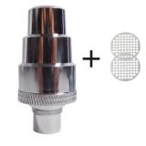Ersatz FlowerMate Wasserfilter Adapter aus Edelstahl (m:14/18, w:10/14/18/19) + 2 Siebe