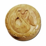 Shisham-Holzmühle Schlange geschnitzt