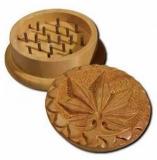 Shisham-Holzmühle Hanf Blatt geschnitzt